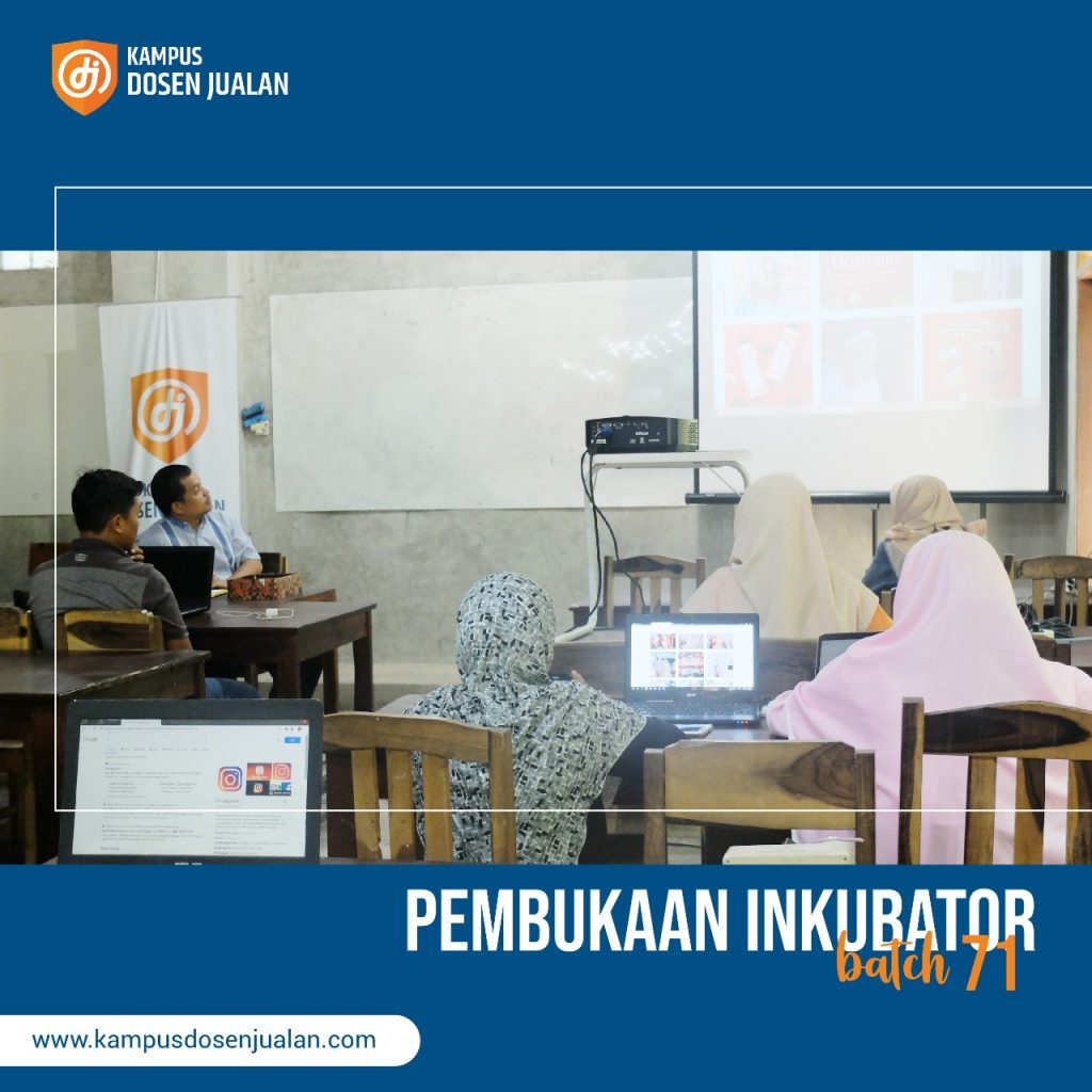 Pembukaan inkubator jualan online