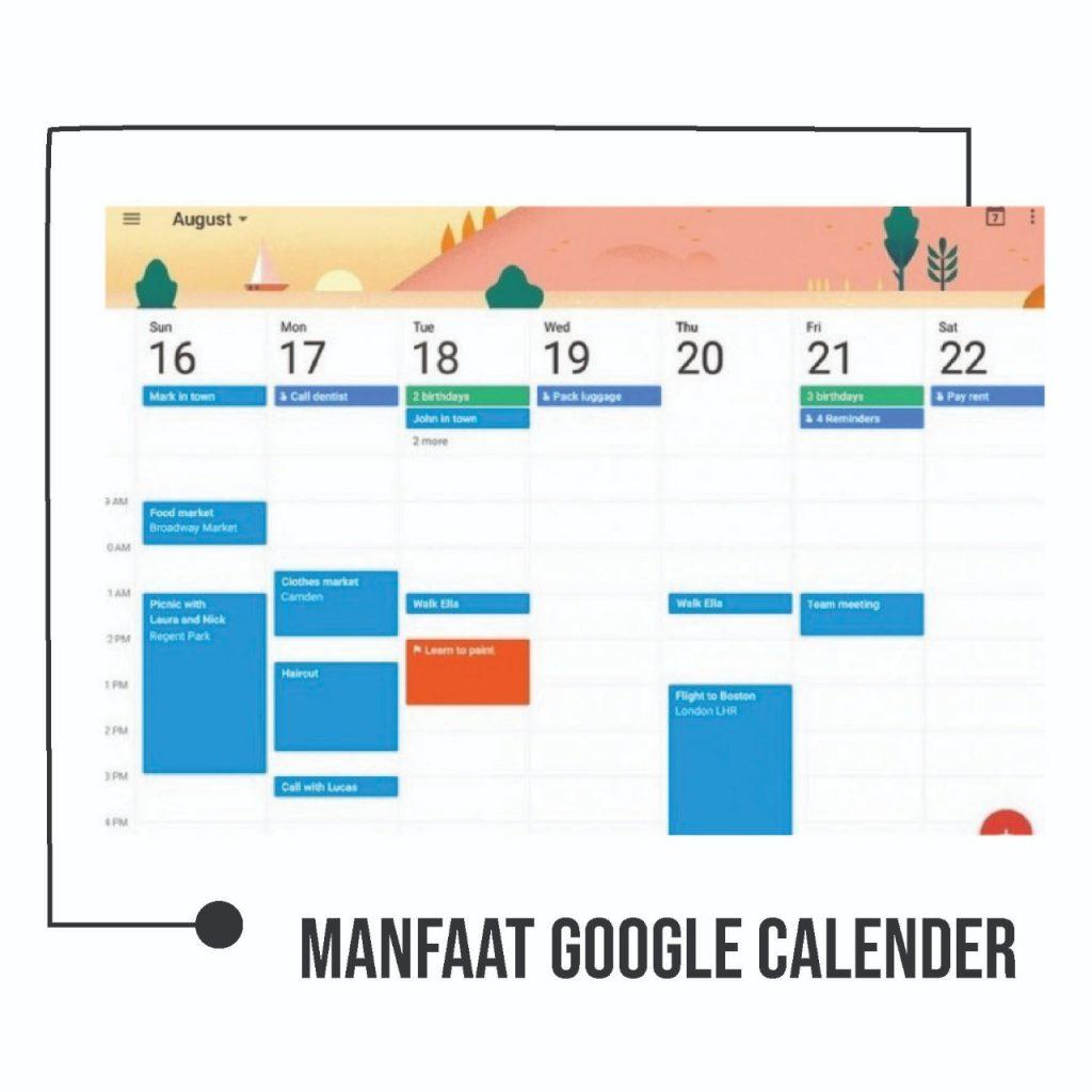 Manfaat google Calender