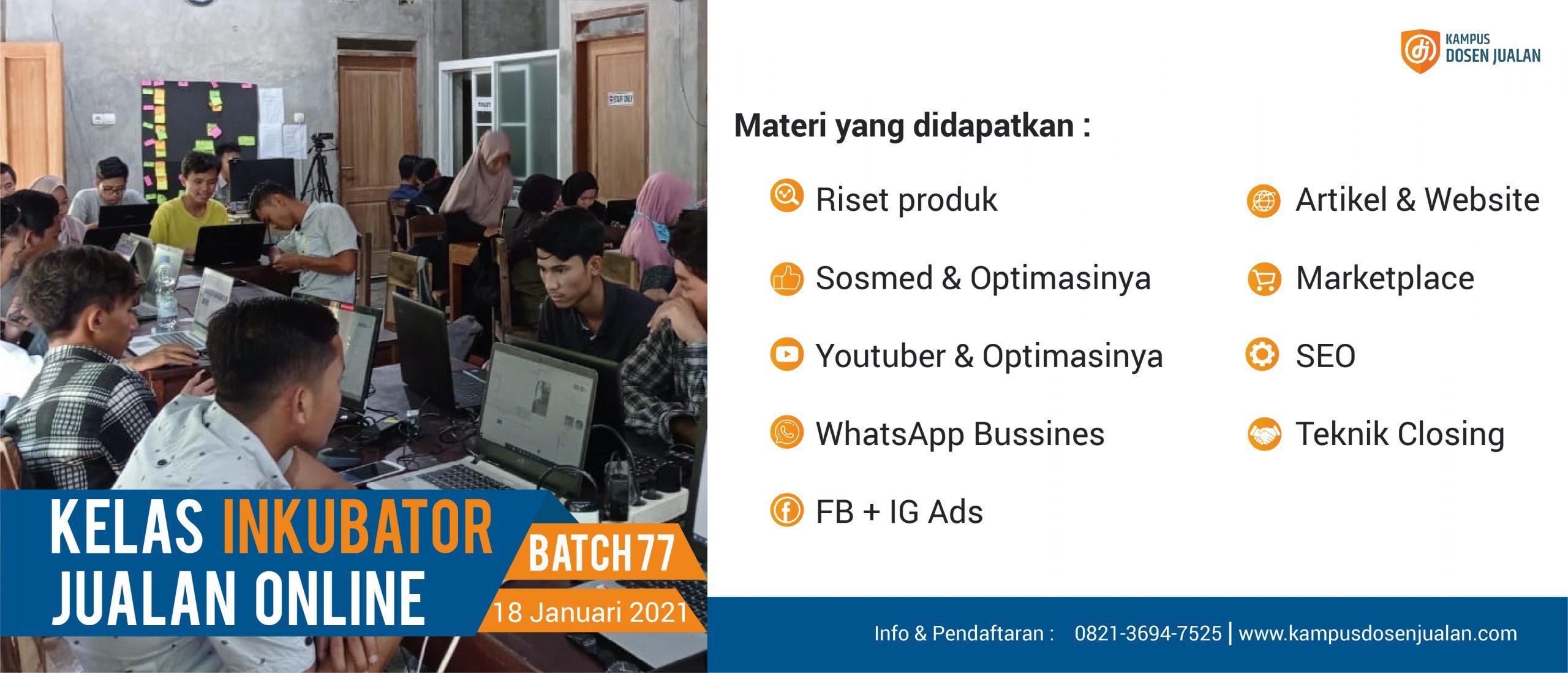 Inkubator Jualan Online 2021
