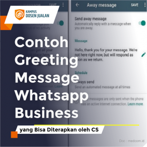 contoh greeting message whatsapp business