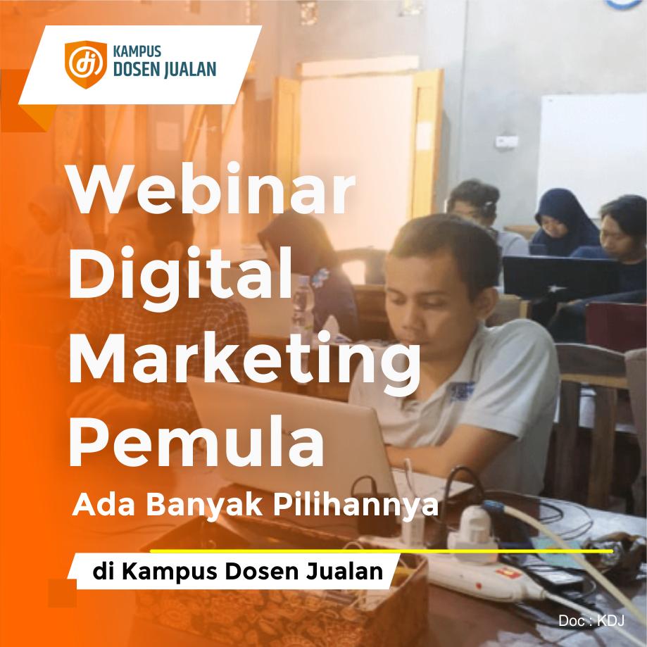 webinar digital marketing pemula