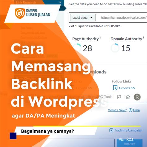 Cara Memasang Backlink di Wordpress