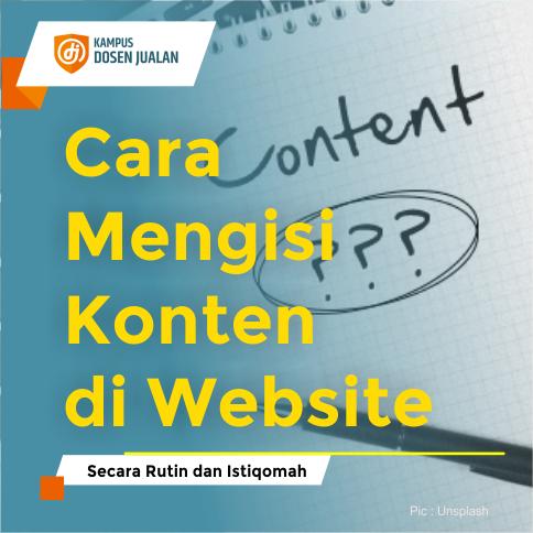 Cara Mengisi Konten di Website