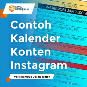 contoh kalender konten instagram