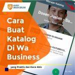 Cara Buat Katalog Di Wa Business