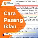 Cara Pasang Iklan Di Google Maps
