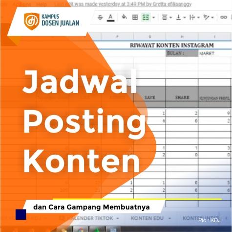 Jadwal Posting Konten