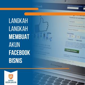 langkah-langkah membuat akun facebook bisnis